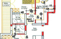 Apartment 1 Gamskogel - Plan